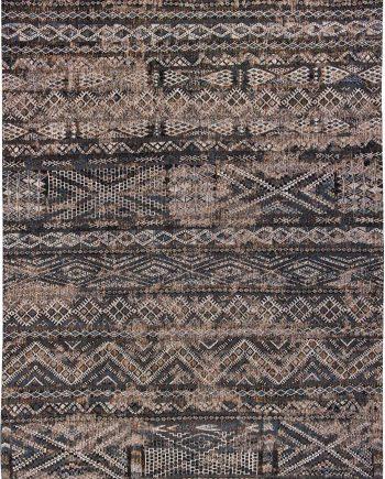 Louis De Poortere tappeto LX 9113 Antiquarian Kilim Black Rabat